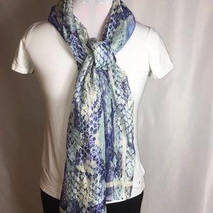 INC chiffon blue scarf